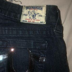 Beautiful Shimmery Pocket True Religion jeans.